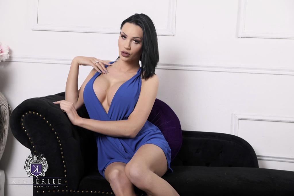 Hiding behing kimberlee s pleasant blue dress is a super hot