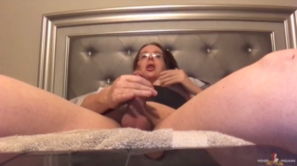Watch wendy jack her shemale juice off her tool in a skype to